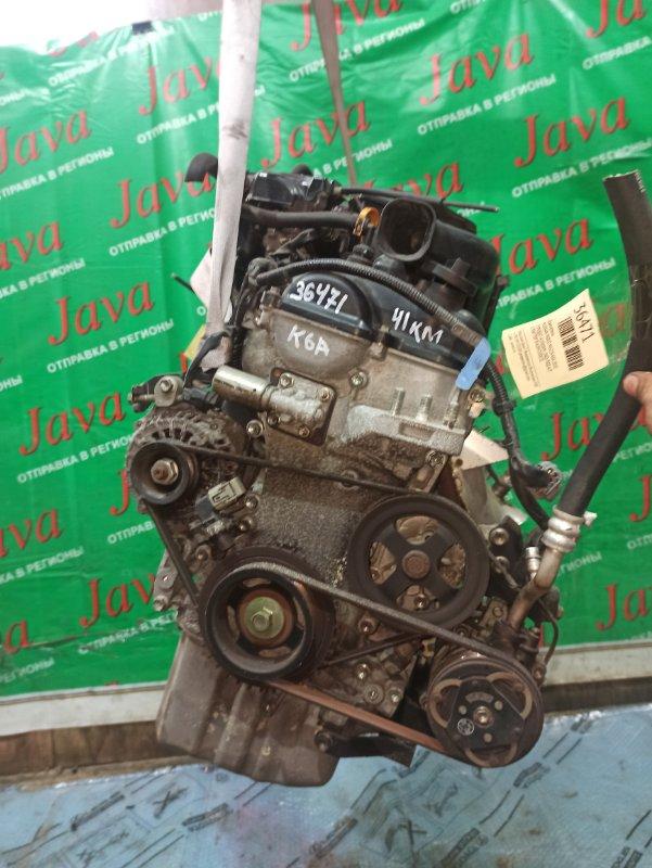 Двигатель Nissan Moco MG22S K6A 2010 (б/у) ПРОБЕГ-41000КМ. 2WD. +КОМП. МЕХ.ЗАСЛОНКА. ПОД А/Т. СТАРТЕР В КОМПЛЕКТЕ.