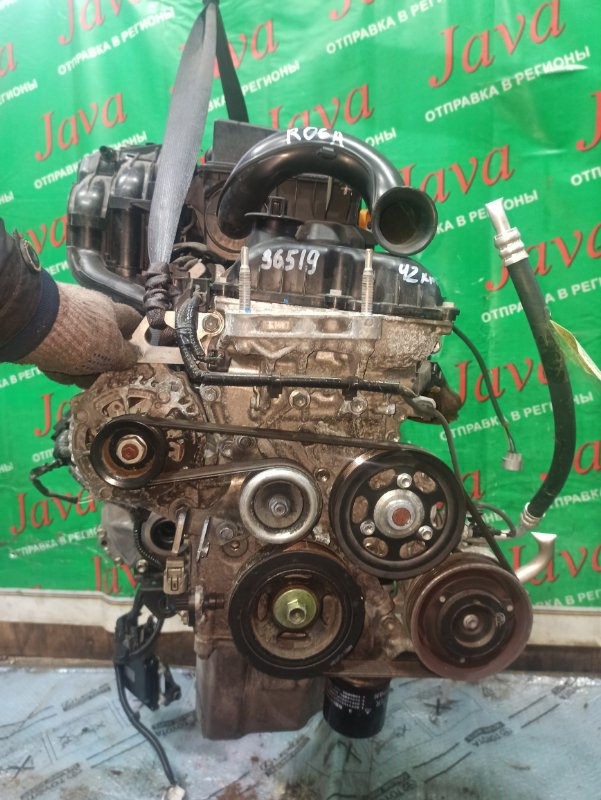 Двигатель Suzuki Alto HA35S R06A 2014 (б/у) ПРОБЕГ-42000КМ. 2WD. КОСА+КОМП. ПОД А/Т. СТАРТЕР В КОМПЛЕКТЕ.