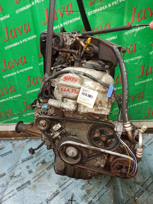 Двигатель Suzuki Cervo HG21S K6A 2006 (б/у) ПРОБЕГ-54000КМ. 4WD. +КОМП. МЕХ.ЗАСЛОНКА. ПОД А/Т. СТАРТЕР В КОМПЛЕКТЕ.