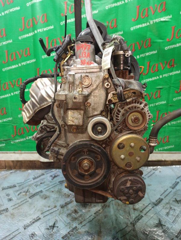 Двигатель Honda Fit GD1 L13A 2002 (б/у) ПРОБЕГ-58000КМ. 2WD. КОСА+КОМП. ПОД А/Т. СТАРТЕР В КОМПЛЕКТЕ.