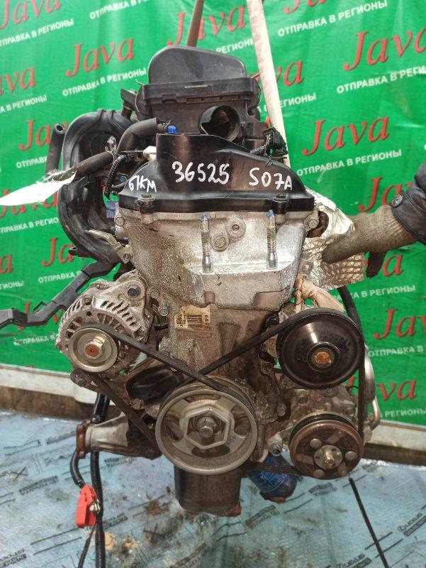 Двигатель Honda N-Wgn JH2 S07A 2014 (б/у) ПРОБЕГ-61000КМ. 4WD. КОСА+КОМП. ЭЛЕКТРО ЗАСЛОНКА. ПОД А/Т. СТАРТЕР В КОМПЛЕКТЕ.