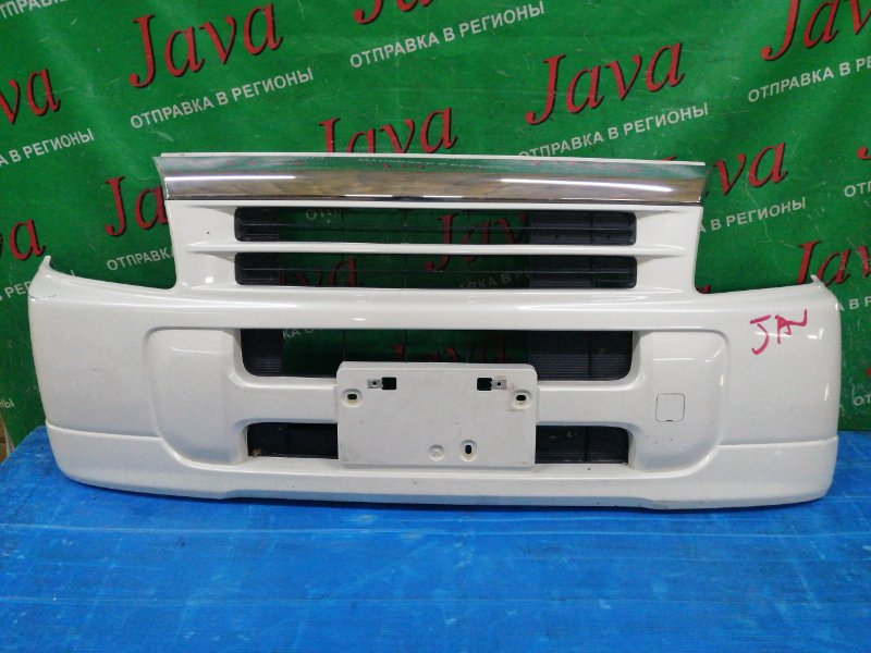 Бампер Honda Vamos HM1 E07Z 2003 передний (б/у) 2-я МОДЕЛЬ. ПОТЕРТОСТИ