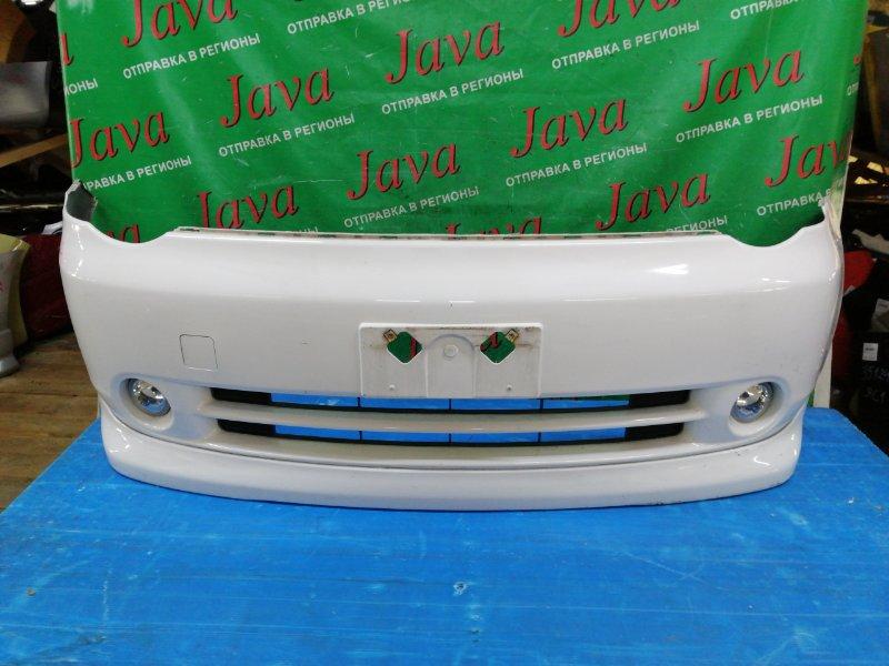 Бампер Toyota Sienta NCP85 1NZ-FE 2005 передний (б/у) 1-я МОДЕЛЬ.ПОТЕРТОСТИ. ГУБА. ТУМАНКИ