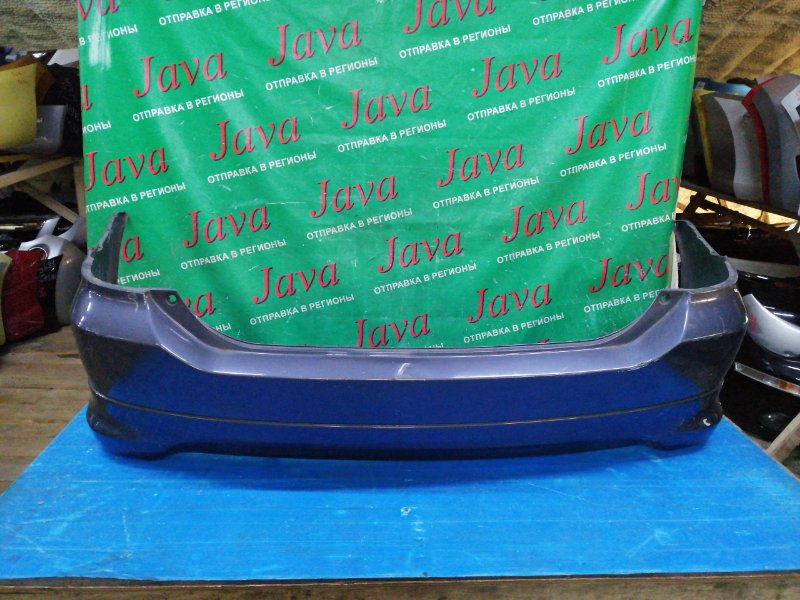 Бампер Toyota Wish ZNE14 1ZZ-FE 2004 задний (б/у) 1-я МОДЕЛЬ. ПОТЕРТОСТИ. ВМЯТИНА. ДЕФЕКТ КРЕПЛЕНИЯ