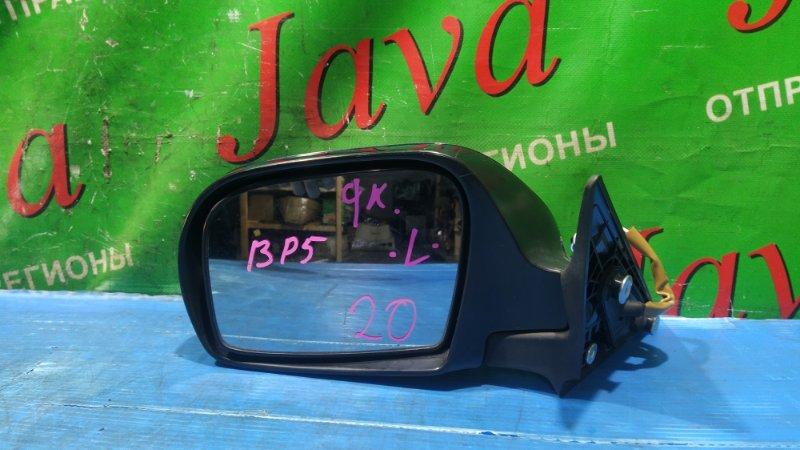 Зеркало Subaru Legacy BP5 2009 переднее левое (б/у) 9 КОНТАКТОВ, ПОВТОРИТЕЛЬ, ЦВЕТ  ЧЕРНЫЙ, (ПОСЛЕ ФОТО УПАКОВАНЫ).
