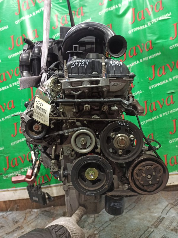Двигатель Nissan Moco MG33S R06A 2014 (б/у) ПРОБЕГ-21000КМ. 2WD. +КОМП. ПОД А/Т. СТАРТЕР В КОМПЛЕКТЕ.