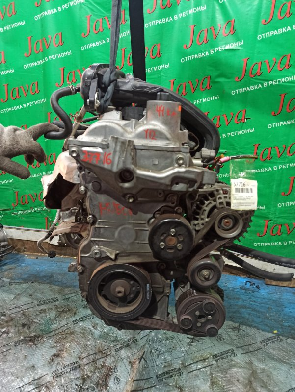 Двигатель Nissan Wingroad Y12 HR15DE 2007 (б/у) ПРОБЕГ-44000КМ. 2WD. +КОМП. ПОД А/Т. СТАРТЕР В КОМПЛЕКТЕ.