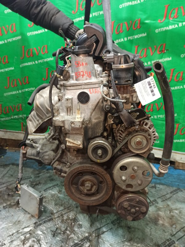 Двигатель Honda Airwave GJ2 L15A 2006 (б/у) ПРОБЕГ-58000КМ. 4WD. КОСА+КОМП. ПОД А/Т. СТАРТЕР В КОМПЛЕКТЕ.