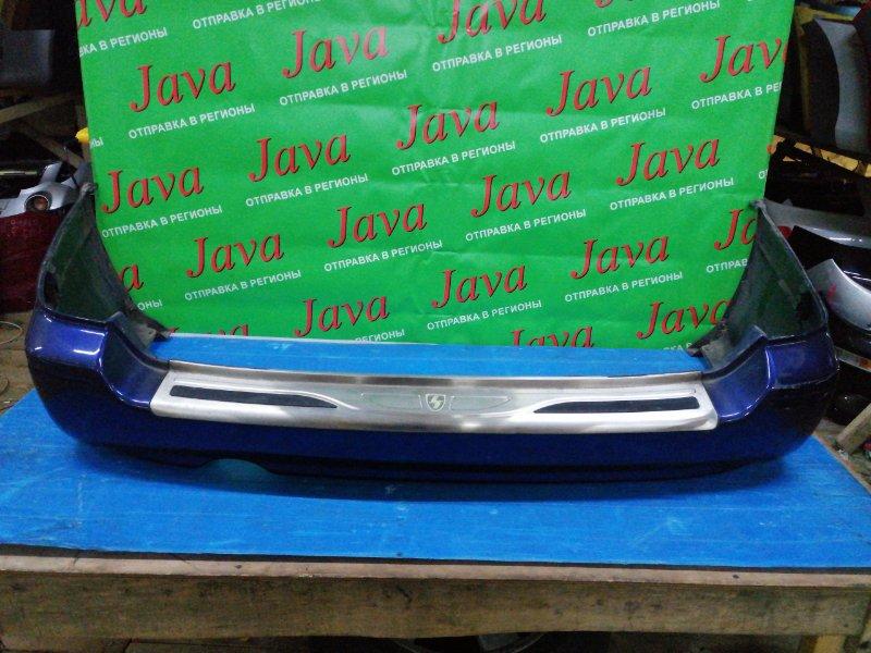 Бампер Subaru Legacy BH5 EJ204 2001 задний (б/у) ПОТЕРТОСТИ. ХРОМ НАКЛАДКА