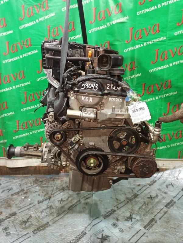 Двигатель Suzuki Palette MK21S K6A 2012 (б/у) ПРОБЕГ-24000КМ. 4WD. +КОМП. ЭЛЕКТРО ЗАСЛОНКА.  ПОД А/Т. СТАРТЕР В КОМПЛЕКТЕ.