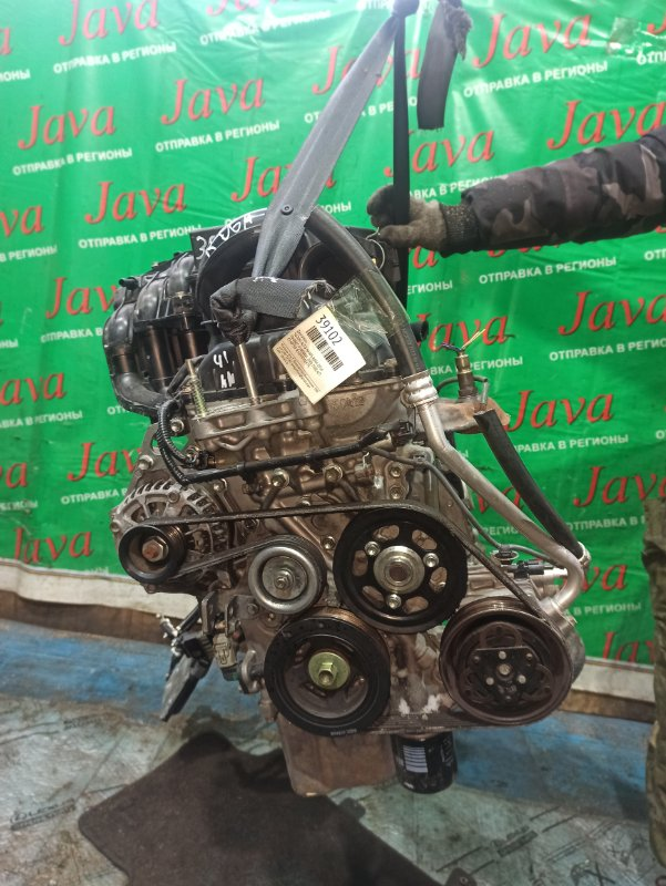 Двигатель Suzuki Alto HA35S R06A 2014 (б/у) ПРОБЕГ-41000КМ. 2WD. +КОМП. ПОД А/Т. СТАРТЕР В КОМПЛЕКТЕ. ДЕФЕКТ ШКИВА КОНДИЦИОНЕРА.