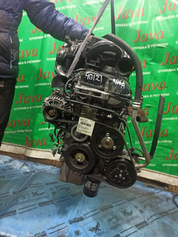 Двигатель Suzuki Alto HA35S R06A 2014 (б/у) ПРОБЕГ-58000КМ. 2WD. +КОМП. ПОД А/Т. СТАРТЕР В КОМПЛЕКТЕ.