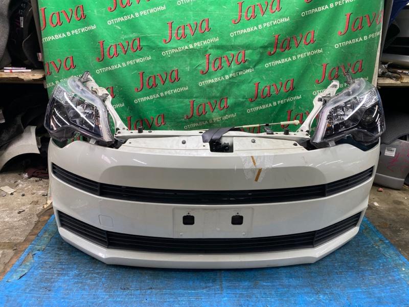 Ноускат Toyota Spade NCP141 1NZ-FE 2014 передний (б/у) ФАРЫ ГАЛОГЕН. ПОТЕРТОСТИ НА БАМПЕРЕ.