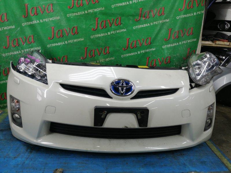 Ноускат Toyota Prius ZVW30 2ZR-FXE 2010 передний (б/у) КСЕНОН. LED. ТУМАНКИ. ЛОМ КРЕПЛЕНИЙ НА ПРАВОЙ ФАРЕ.