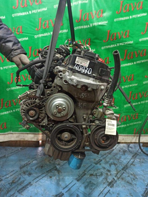 Двигатель Daihatsu Tanto L455S KF-VE 2010 (б/у) ПРОБЕГ-47000КМ. 2WD. +КОМП. МЕХ.ЗАСЛОНКА. ПОД А/Т. СТАРТЕР В КОМПЛЕКТЕ. ДЕФЕКТ КРЕПЛЕНИЯ ПОДУШКИ НА ЛОБОВИНЕ.