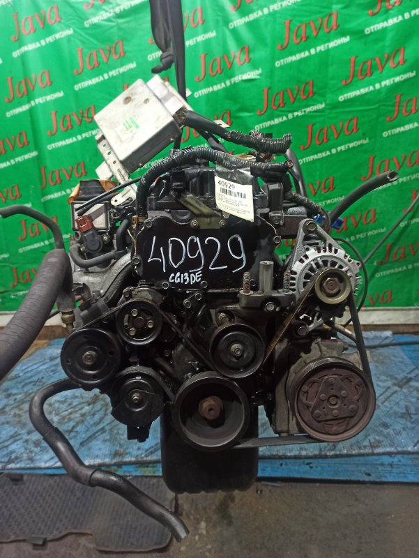 Двигатель Nissan Cube Z10 CG13DE 1998 (б/у) ПРОБЕГ-77000КМ. 2WD. 1-Я МОД. +КОМП. ПОД А/Т. СТАРТЕР В КОМПЛЕКТЕ.