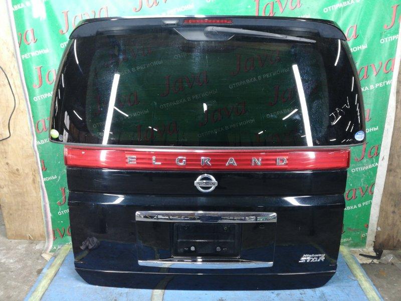 Дверь задняя Nissan Elgrand ME51 VQ25DE 2006 задняя (б/у) ПОТЕРТОСТИ. СПОЙЛЕР. МЕТЛА.