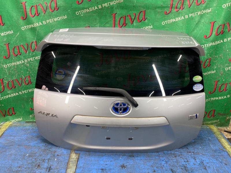 Дверь задняя Toyota Aqua NHP10 1NZ-FXE 2012 задняя (б/у) ПОТЕРТОСТИ. СПОЙЛЕР. МЕТЛА. КАМЕРА