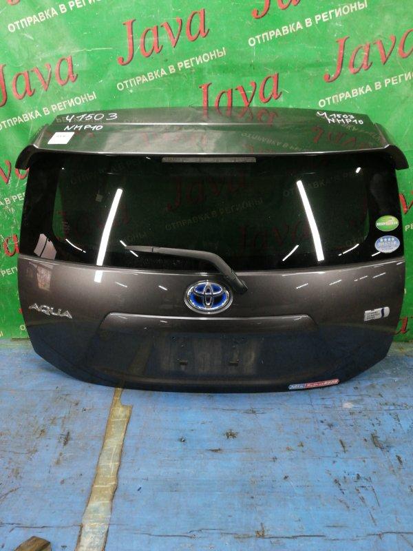 Дверь задняя Toyota Aqua NHP10 1NZ-FXE 2012 задняя (б/у) ПОТЕРТОСТИ. СПОЙЛЕР. МЕТЛА