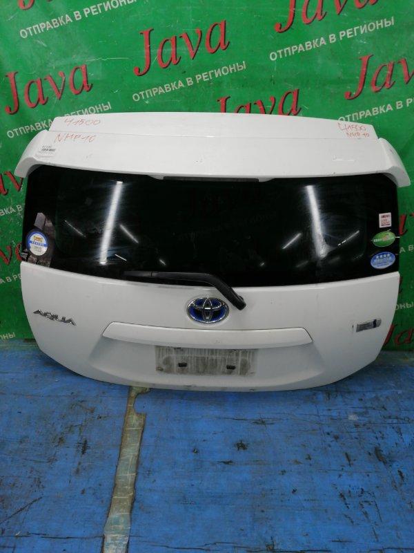 Дверь задняя Toyota Aqua NHP10 1NZ-FXE 2012 задняя (б/у) ПОТЕРТОСТИ. СПОЙЛЕР. МЕТЛА. КАМЕРА.