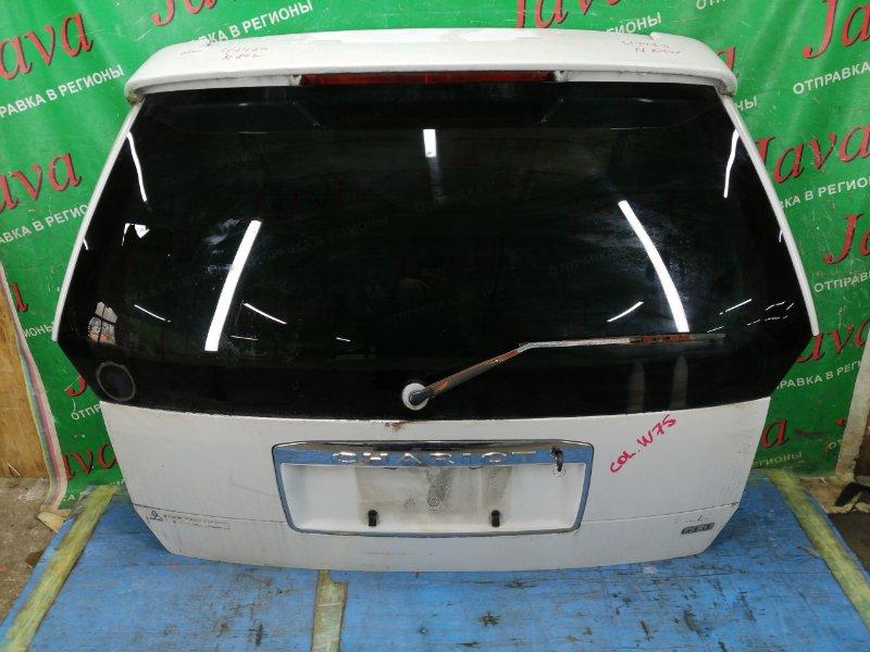 Дверь задняя Mitsubishi Chariot Grandis N84W 4G64 1997 задняя (б/у) ПОТЕРТОСТИ.СПОЙЛЕР. МЕТЛА. КЛЮЧ.