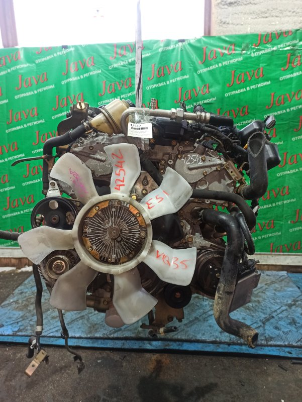 Двигатель Nissan Elgrand E51 VQ35DE 2003 (б/у) ПРОБЕГ-56000КМ. 2WD. +КОМП. ЭЛЕКТРО ЗАСЛОНКА. ПОД А/Т. СТАРТЕР В КОМПЛЕКТЕ.