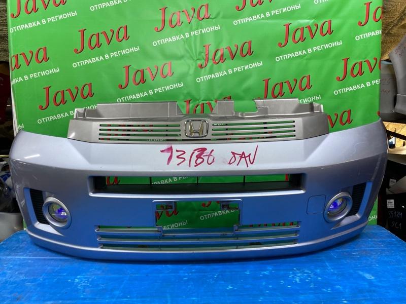 Бампер Honda Mobilio GB1 L15A 2004 передний (б/у) 2-я МОДЕЛЬ. ПОТЕРТОСТИ. ТУМАНКИ. РЕШЕТКА.