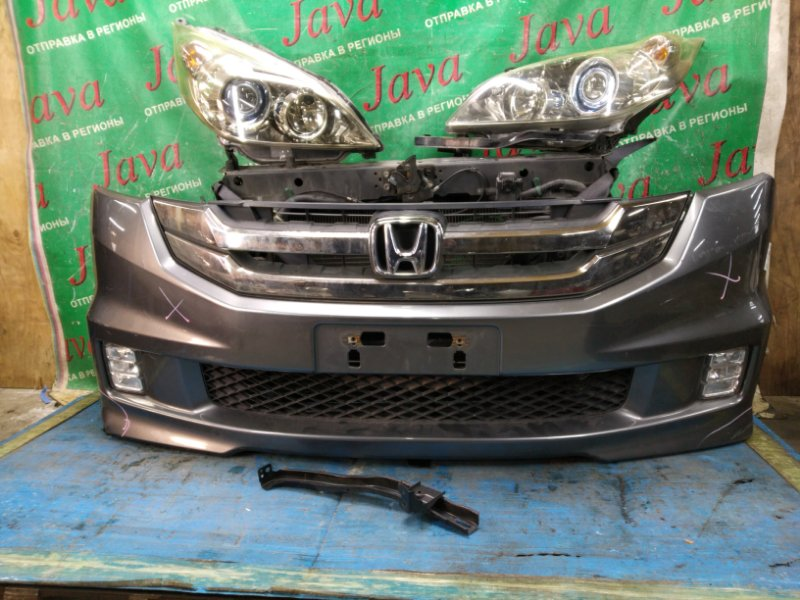 Ноускат Honda Step Wagon RG1 K20A 2007 передний (б/у) ТУМАНКИ. КСЕНОН. ЛОМ НИЖНЕГО КРЕПЛЕНИЯ ФАР.