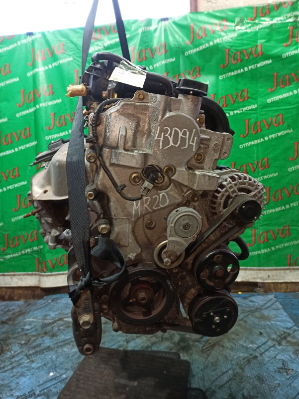 Двигатель Nissan Serena C25 MR20DE 2005 (б/у) ПРОБЕГ-61000КМ. 2WD. КОСА+КОМП.  БЕЗ EGR. ПОД А/Т. СТАРТЕР В КОМПЛЕКТЕ.