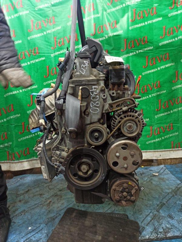 Двигатель Honda Fit GD1 L13A 2004 (б/у) ПРОБЕГ-51000КМ. 2WD. DSI. 8 КАТУШЕК. КОСА+КОМП.  ПОД А/Т. СТАРТЕР В КОМПЛЕКТЕ.