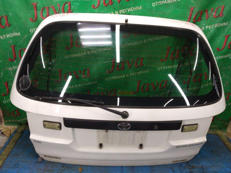 Дверь задняя Toyota Caldina ET196 5E-FE 1999 задняя (б/у) ПОТЕРТОСТИ. МЕТЛА.