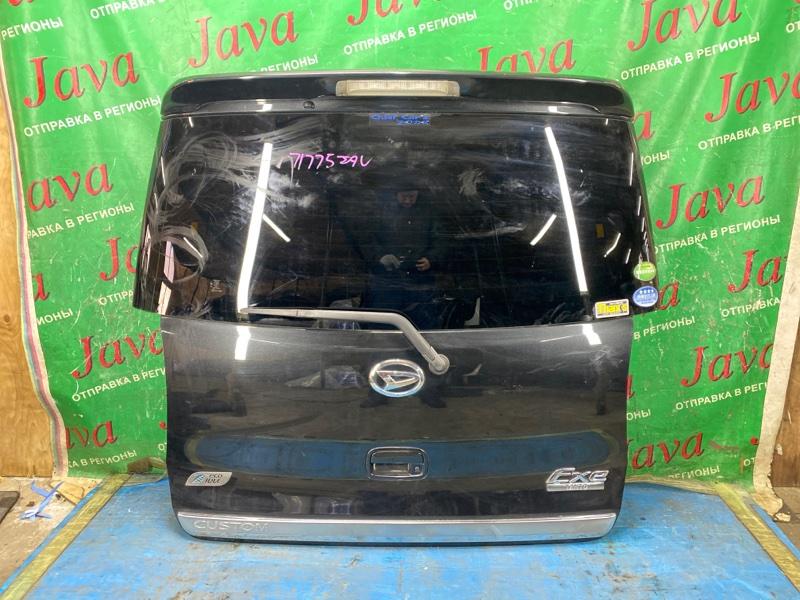 Дверь задняя Daihatsu Tanto L455S KF-VE 2012 задняя (б/у) ПОТЕРТОСТИ. СПОЙЛЕР. МЕТЛА