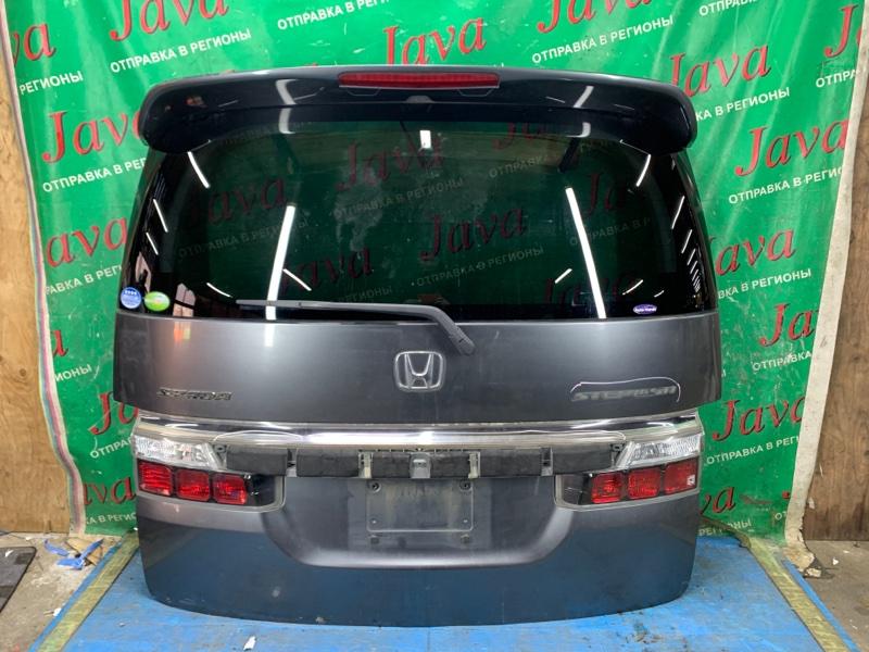 Дверь задняя Honda Step Wagon RG1 K20A 2007 задняя (б/у) ПОТЕРТОСТИ. НЕТ НАКЛАДКИ.СПОЙЛЕР. МЕТЛА. КАМЕРА.