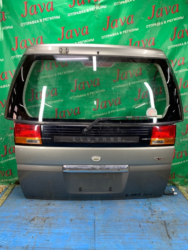 Дверь задняя Nissan Elgrand ATE50 ZD30DDTI 2000 задняя (б/у) ПОТЕРТОСТИ.
