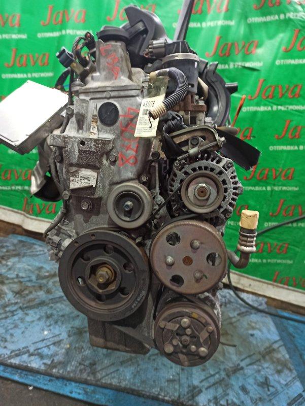 Двигатель Honda Fit GD1 L13A 2007 (б/у) ПРОБЕГ-59000КМ. 2WD. DSI. 8 СВЕЧЕЙ. КОСА+КОМП. ПОД А/Т. СТАРТЕР В КОМПЛЕКТЕ.