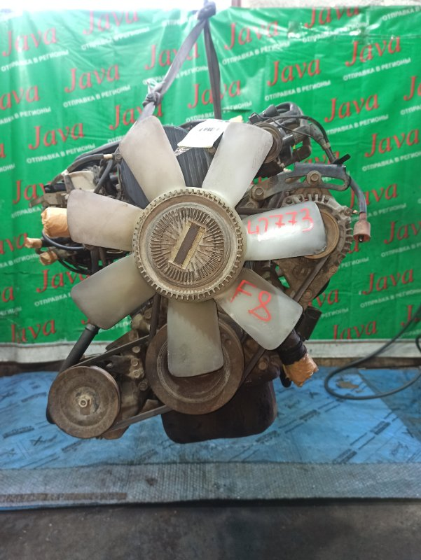 Двигатель Mazda Bongo SE88T F8 1995 (б/у) ПРОБЕГ-66000КМ. 2WD. КАРБЮРАТОР. ПОД М/Т. СТАРТЕР В КОМПЛЕКТЕ. ПРОДАЖА БЕЗ МАХОВИКА.