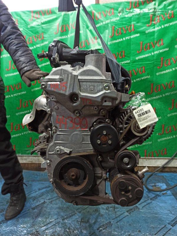 Двигатель Nissan Ad Y12 HR15DE 2012 (б/у) ПРОБЕГ-35000КМ. 2WD. ПОД А/Т. СТАРТЕР В КОМПЛЕКТЕ.