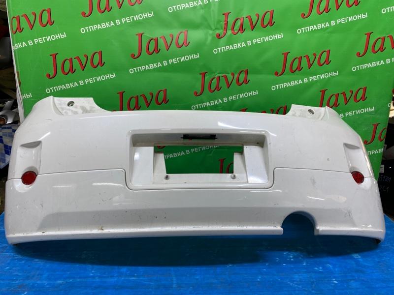 Бампер Toyota Porte NNP11 1NZ-FE 2005 задний (б/у) ПОТЕРТОСТИ. ГУБА. ДЕФЕКТ КРЕПЛЕНИЙ
