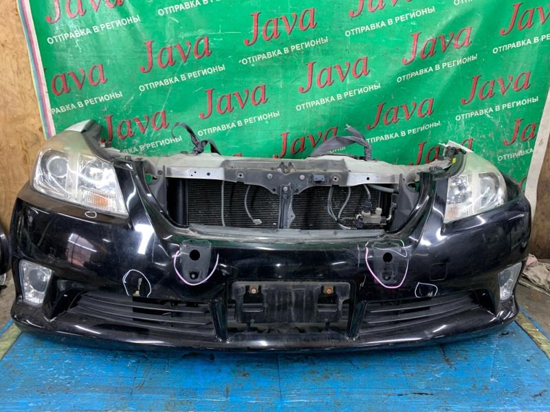 Ноускат Toyota Crown GRS202 3GR-FSE 2011 передний (б/у) КСЕНОН. ТУМАНКИ. ОТВЕРСТИЯ В БАМПЕРЕ. ЛОМ ВЕРХНЕГО КРЕПЛЕНИЯ ЛЕВОЙ ФАРЫ(ЕСТЬ).