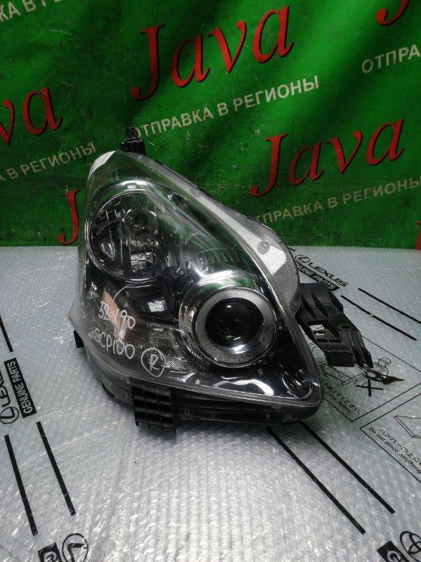 Фара Toyota Ractis SCP100 2SZ-FE 2008 передняя правая (б/у) 52-190 XENON