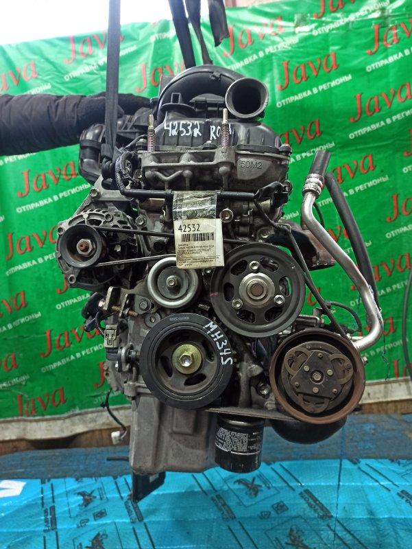 Двигатель Suzuki Wagon R MH34S R06A 2014 (б/у) ПРОБЕГ-47000КМ. 2WD. +КОМП. ЭЛЕКТРО ЗАСЛОНКА. ПОД А/Т. СТАРТЕР В КОМПЛЕКТЕ.