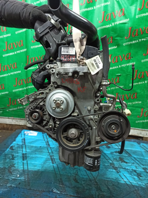 Двигатель Daihatsu Tanto Exe L455S KF-VE2 2011 (б/у) ПРОБЕГ-22000КМ. 2WD. +КОМП. ЭЛЕКТРО ЗАСЛОНКА. ПОД А/Т. СТАРТЕР В КОМПЛЕКТЕ.