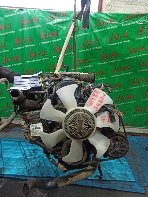 Двигатель Mazda Bongo SK82V F8 2000 (б/у) ПРОБЕГ-64000КМ. 2WD. EFI. +КОМП. ПОД А/Т. СТАРТЕР В КОМПЛЕКТЕ. ЛОМ КРЫШКИ ТРАМБЛЕРА.