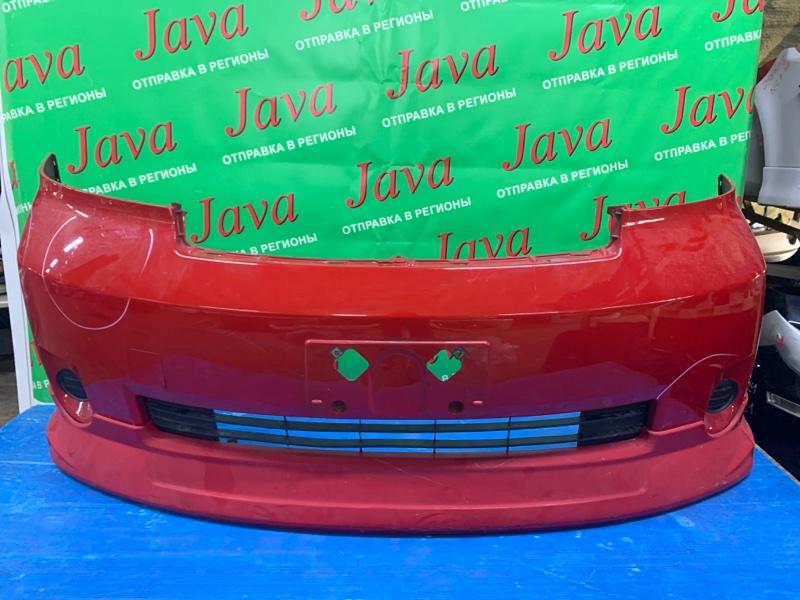 Бампер Toyota Porte NNP15 1NZ-FE 2008 передний (б/у) ПОТЕРТОСТИ. ПОЛЕЗ ЛАК. ДЕФЕКТ.