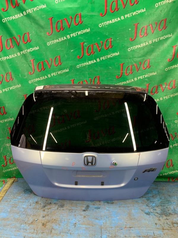 Дверь задняя Honda Fit GD1 L13A 2001 задняя (б/у) ПОТЕРТОСТИ. ВЕРХ ПОД КАРБОН(ПОЛЕЗ).