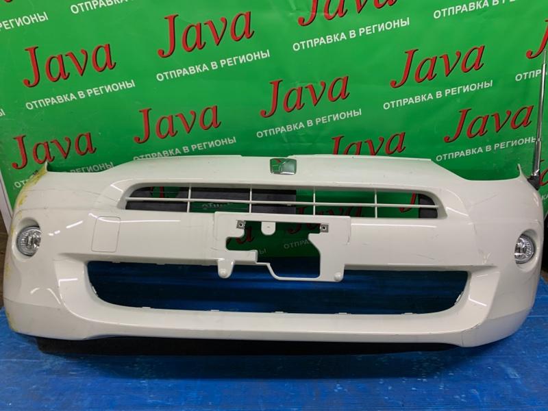 Бампер Toyota Passo KGC30 1KR-FE 2010 передний (б/у) ПОТЕРТОСТИ. ПОДОРВАН. СЛЕДЫ КРАСКИ.