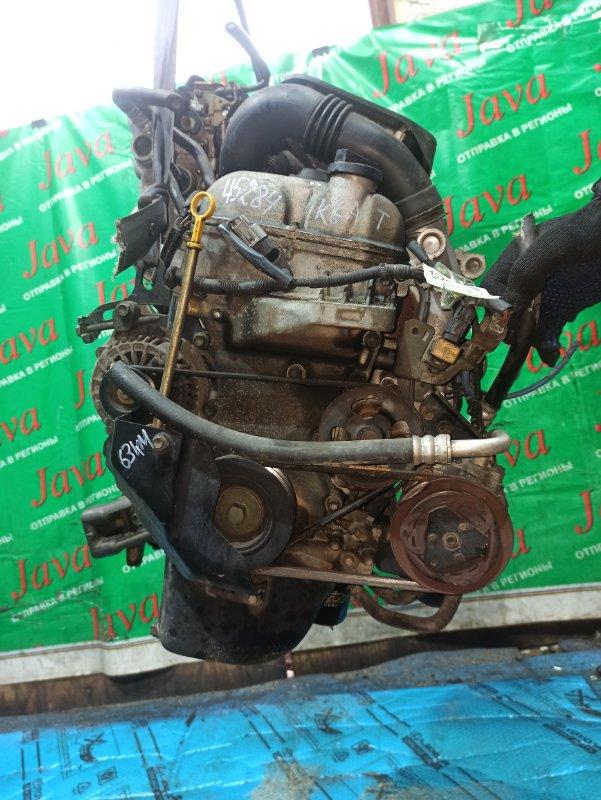 Двигатель Suzuki Wagon R MC22S K6A-T 2003 (б/у) ПРОБЕГ-63000КМ. 2WD. МЕХ.ЗАСЛОНКА. +КОМП. ПОД А/Т. СТАРТЕР В КОМПЛЕКТЕ.