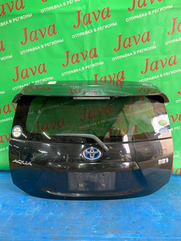 Дверь задняя Toyota Aqua NHP10 1NZ-FXE 2012 задняя (б/у) ПОТЕРТОСТИ. МЕТЛА. КАМЕРА. СПОЙЛЕР