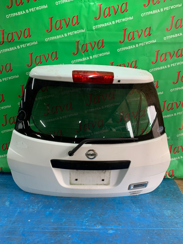 Дверь задняя Nissan Ad Van VZNY12 HR15DE 2008 задняя (б/у) ПОТЕРТОСТИ. МЕТЛА.