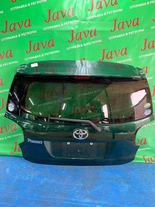 Дверь задняя Toyota Passo M700A 1KR-FE 2016 задняя (б/у) ПОТЕРТОСТИ. МЕТЛА. КАМЕРА